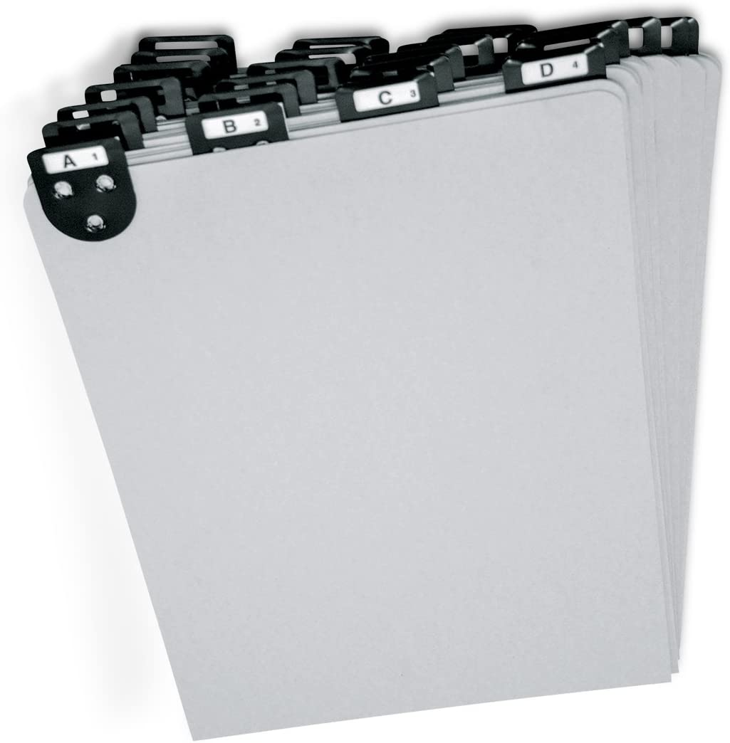 """Martin Yale 14522 Posting Tray Index Set, 8 1/2 x 11"""", 25 Durable Pressboard Dividers, Includes A-Z Labels and Blank Inserts, Metal Tabs"""