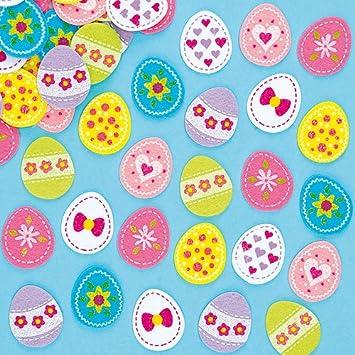 Baker Ross Pegatinas de Fieltro de Huevos de Pascua Decorar Tarjetas Álbumes Collages y Otras Manualidades Artesanía de Primavera para Niños (Pack de 64): ...