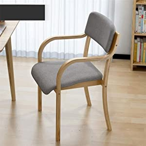 Chair Furniture Signature Design Dining Upholstered Side Chair ,Solid Wood Dining Chairs with armrests Coffee Chair (Size : C)