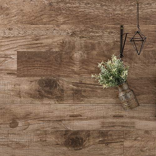 ウッドパネル ウッドタイル 腰壁 粘着式 壁に貼れる木材 ハッティー ブラウン 10枚入り Z3K