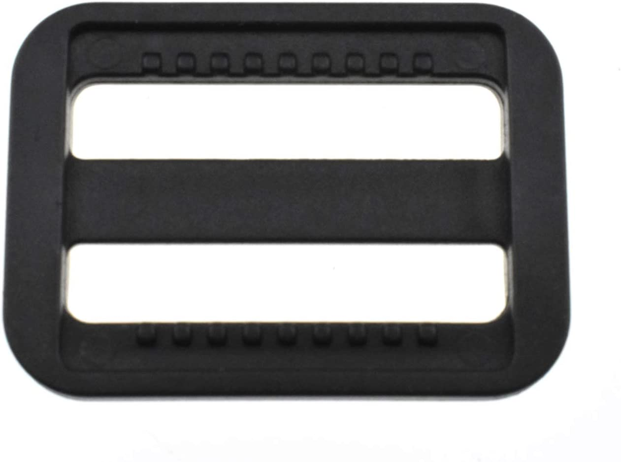 Hao Pro 1 Inch Tri Glides Slides Clips Buckles Gripping Knurled Edge No Slipping Solid 12 Pack for Collars Aprons Sling Bag Adjustable Straps Belt Big Slots No Sharp Edges No Sewing