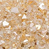 Margo Garden Products 1/2 in. 25 lb. Medium Gold Reflective Tempered Fire Glass