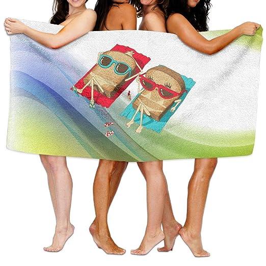 e33133e30d8b2 Amazon.com: Shenigon Bath Towel Sunbathe Toast Customize Quick Dry ...