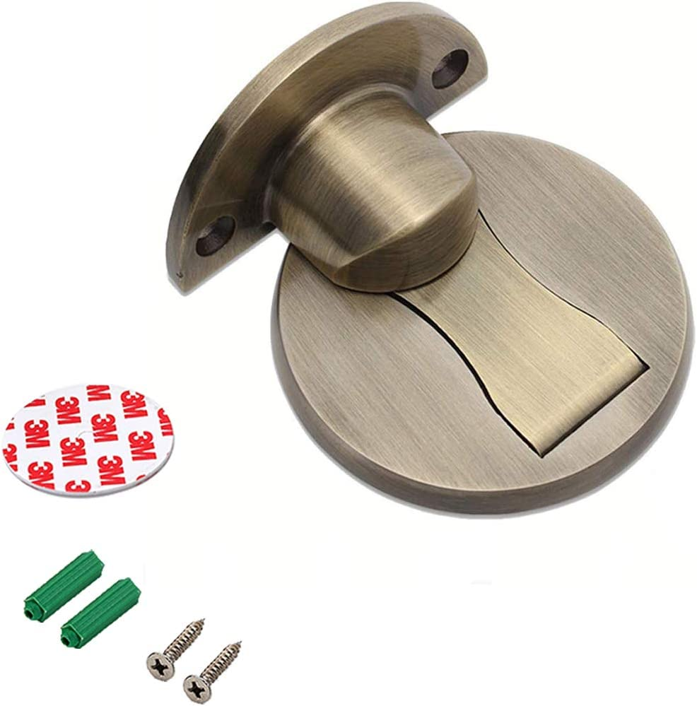minansostey Magnetic Nail-Free Floor Mounted Door Stopper Stainless Steel Non Punching Sticker Hidden Door Holders Home Improvement