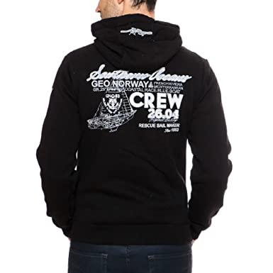 5e26e2369044f Geographical Norway - Sweat à capuche Homme Geographical Norway Goda Noir-Taille  - S