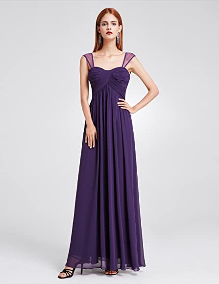 f12d78977970 Ever-Pretty Womens Long Bridesmaids Dress with Sweetheart Neckline 04 US  Dark Purple at Amazon Women's Clothing store: