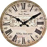 Buggy 23inch 58CM Chic Wall Clock - Multi-Coloured Cute Retro Style Clock Wall - Vintage Wall Clocks for Living Room-Bedroom and Kitchen