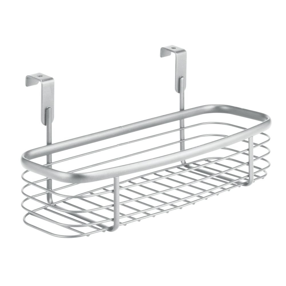 InterDesign Axis Over the Cabinet Kitchen Storage Holder for Plastic and Garbage Bags - Silver 56577