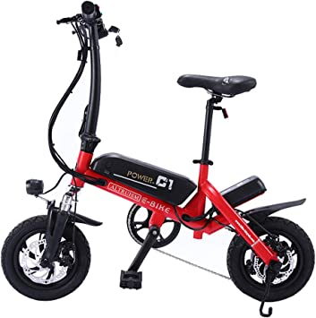 FJNS Bicicleta Electrica Plegable de 12 Pulgadas, Bicicletas ...