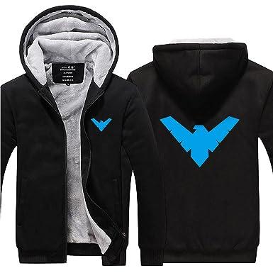 811ad7323f0 Constuff Nightwing Winter Fleece Zip Up Thick Hoodie at Amazon Men s ...