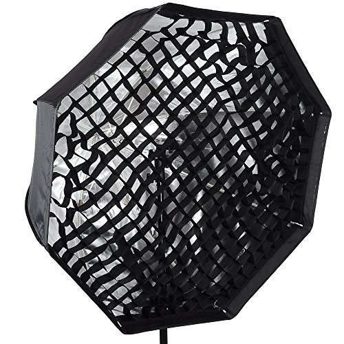Octagon Umbrella Softbox Reflector Speedlite Honeycomb Grid 31.5