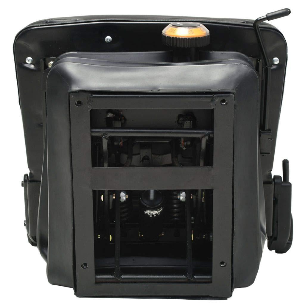 l x P x H Si/ège de tracteur et de chariot /él/évateur Dossier r/églable cadre en bois tapisserie en PVC 48 x 48 x 68cm Noir