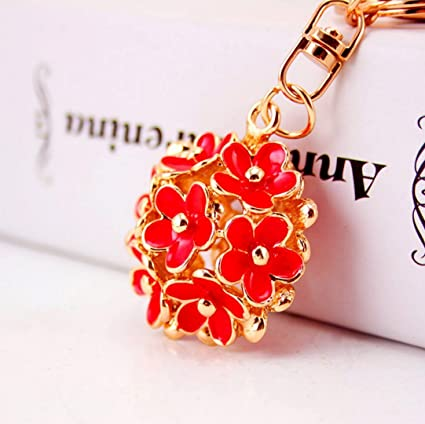 little daisy flowers car key chain keyring fashion trinket souvenir christmas gift bag key holder decorations - Christmas Chain Decorations