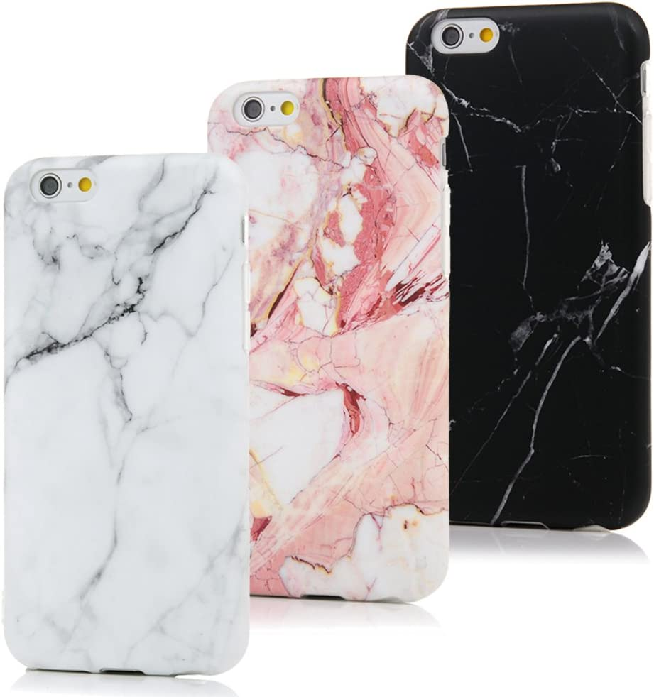 MAXFE.CO 3X Cover iPhone 6S, iPhone 6 Custodia Silicone Morbido Trasparente TPU Flessibile Gomma Design IMD Case Ultra Sottile Cassa Protettiva per ...