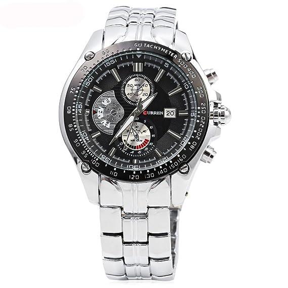 Nueva Curren hombres de los relojes de lujo Hombre Militar reloj de la marca de moda