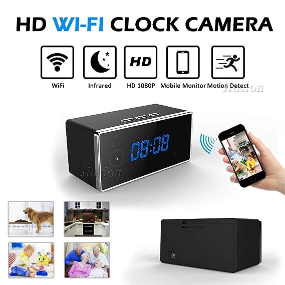 Amazon.com : Mini WiFi Alarm Clock Camera hd 1080p Remote Security Night Vision Motion Sensor Video Recorder Wireless Surveillance Nanny cam : Camera & ...