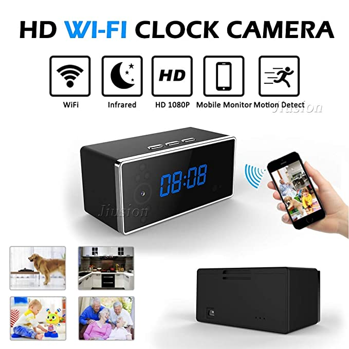 Amazon.com : Mini WiFi Alarm Clock Camera hd 1080p Remote Security Night Vision Motion Sensor Video Recorder Wireless Surveillance Nanny cam : Camera & ...