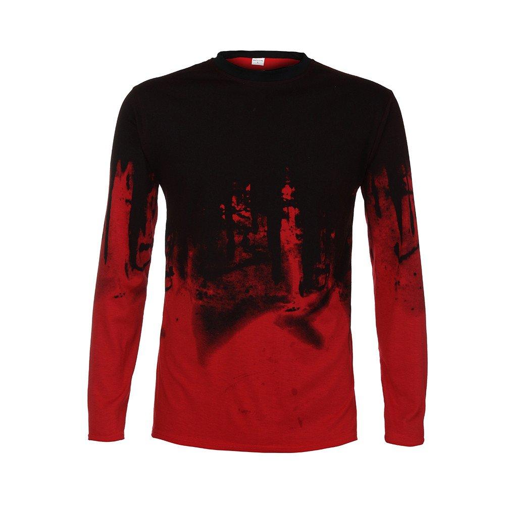riou Camisa de Manga Corta Delgada para Hombre de otoño e Invierno, Camiseta Casual de Manga Larga