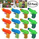 TOYMYTOY 12pcs Plastic Water Squirt Gun Pistol for Kids Watering Game (Random Color)