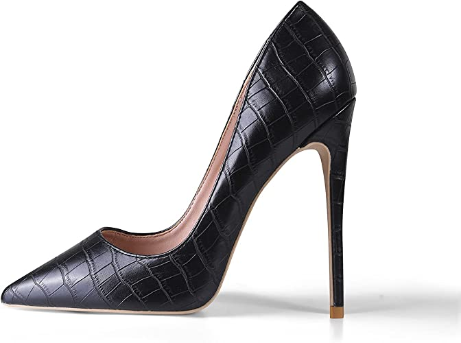 Women/'s Stilettos Buckle Pointed Toe High Heel Nightclub Pumps Dress Shoes Sizes