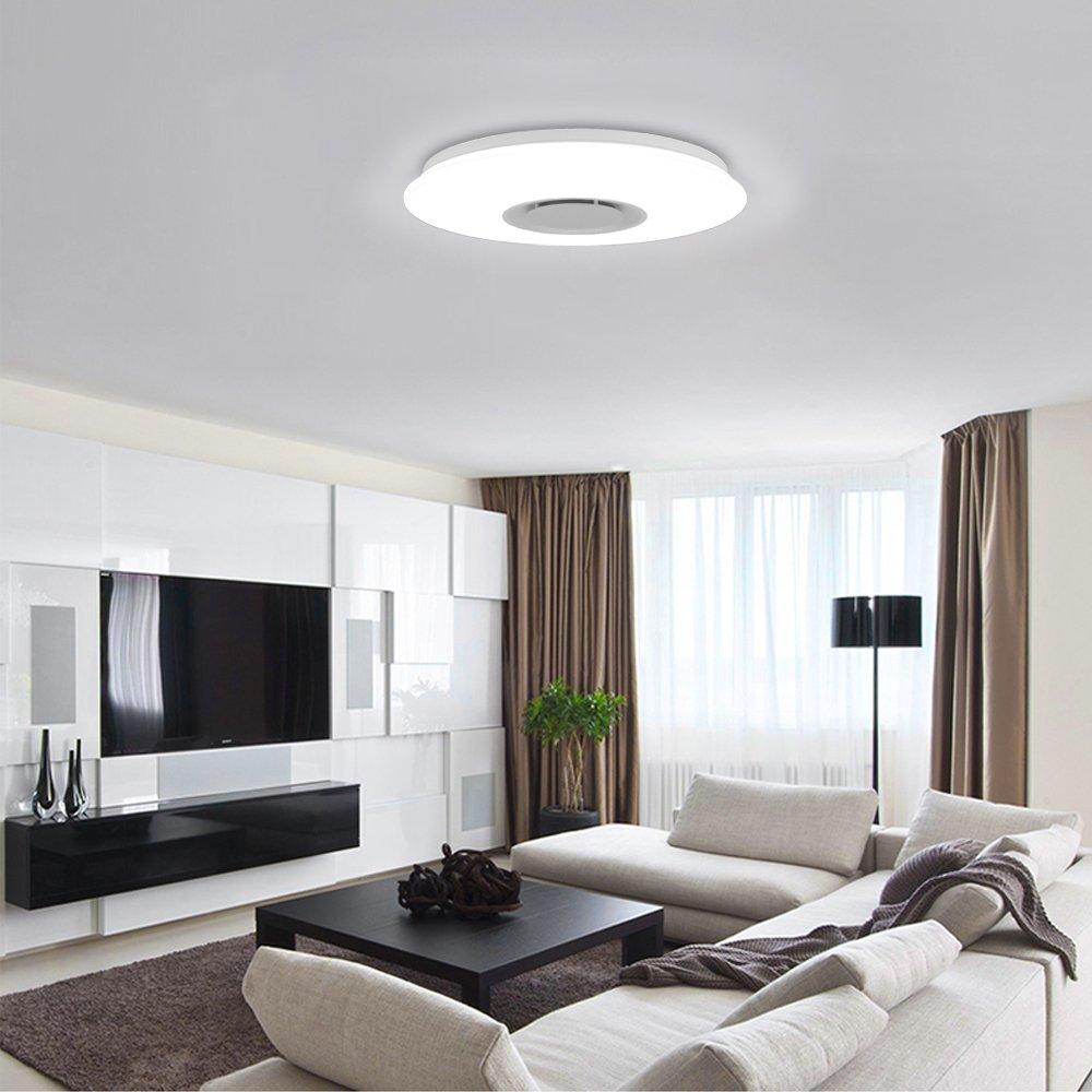 led deckenleuchte 36w sternenhimmel deckenlampe bluetooth lautsprecher musik ebay. Black Bedroom Furniture Sets. Home Design Ideas