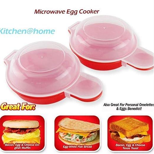 Huevo de microondas de 2 piezas. Huevo fácil, 270 ml - Rojo ...