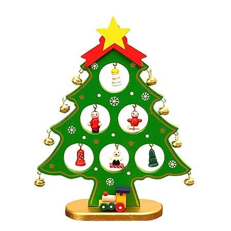 yaonow - Árbol de Navidad para Mesa de Escritorio (Madera, 1 Pieza ...