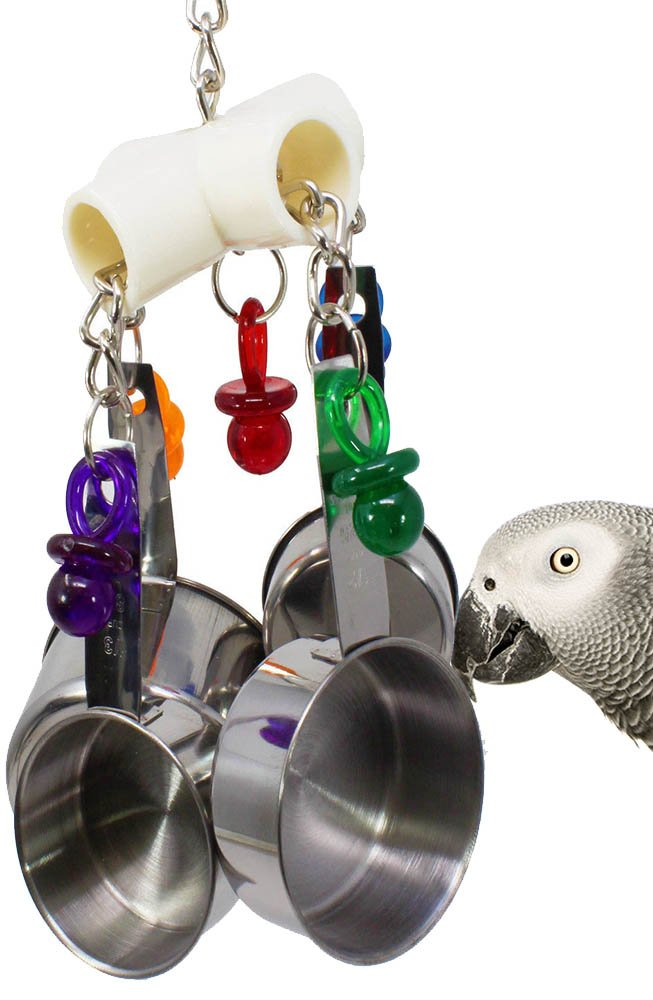 Clacker Clacker Bird Toy Parred Cage Toys Cages African Grey Amazon Conure Cockatoo
