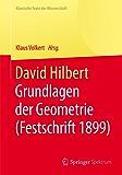 David Hilbert: Grundlagen der Geometrie (Festschrift 1899) (Klassische Texte der Wissenschaft)