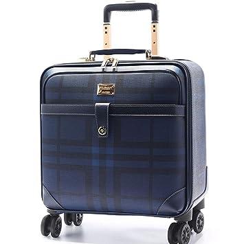 BAG Spinner Rolling Equipaje para Mujeres Maleta de Viaje Hombres Trolley Maletas Ligeras Maletas de Viaje para Mujeres,Blue,20inch: Amazon.es: Deportes y ...