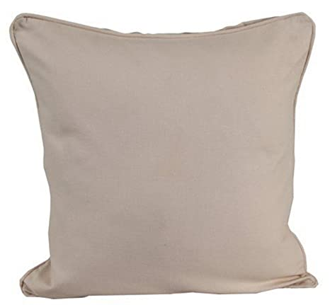 Amazon.com: Homescapes Plain Beige – Funda de cojín (60 x 60 ...