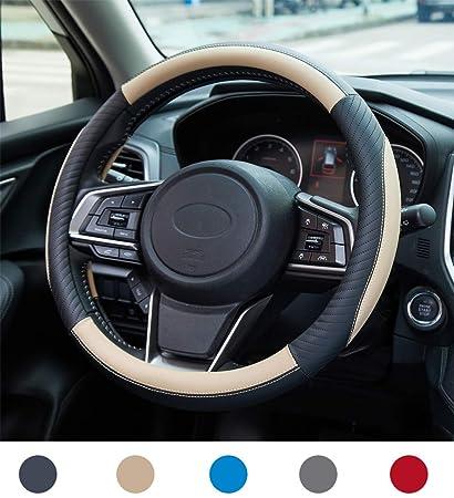 Funda Volante Coche Cuero Sportage Funda Volante Universal Negro 37-38cm Antideslizante Funda Volante Transpirable