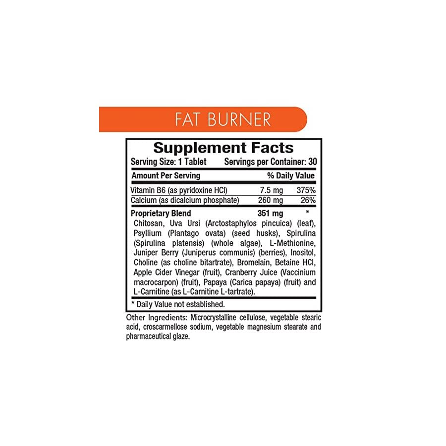 YES YOU CAN DIET PLAN Fat Burner Weight Loss Supplement with Apple Cider Vinegar, Quemador de Grasa, 30 Tablets