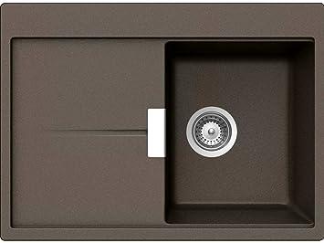 Schock Horizont D 100 S A Bronze Granit Spüle Braun Auflage Einbauspüle  Küche