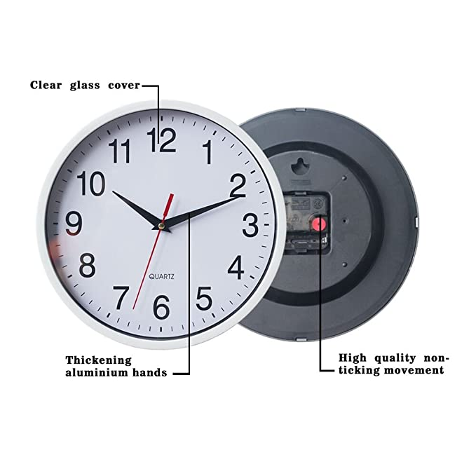 Amazon.com: Smarten Arts - Reloj de pared digital de cuarzo ...
