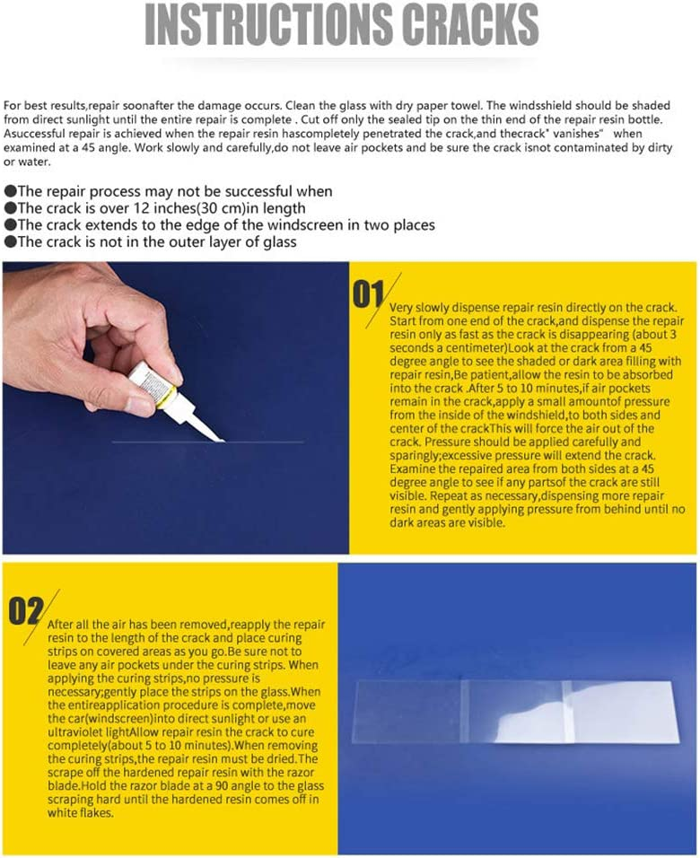 Chowceng Universal Car Parabrezza paraventi Scratch Crack corredo di Riparazione Automotive Glass Window Set di Riparazione