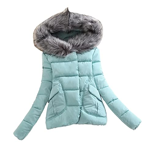 Corto Calentar Abajo chaqueta Para mujeres Slim Fit Moda Abrigo de invierno Con cuello de piel