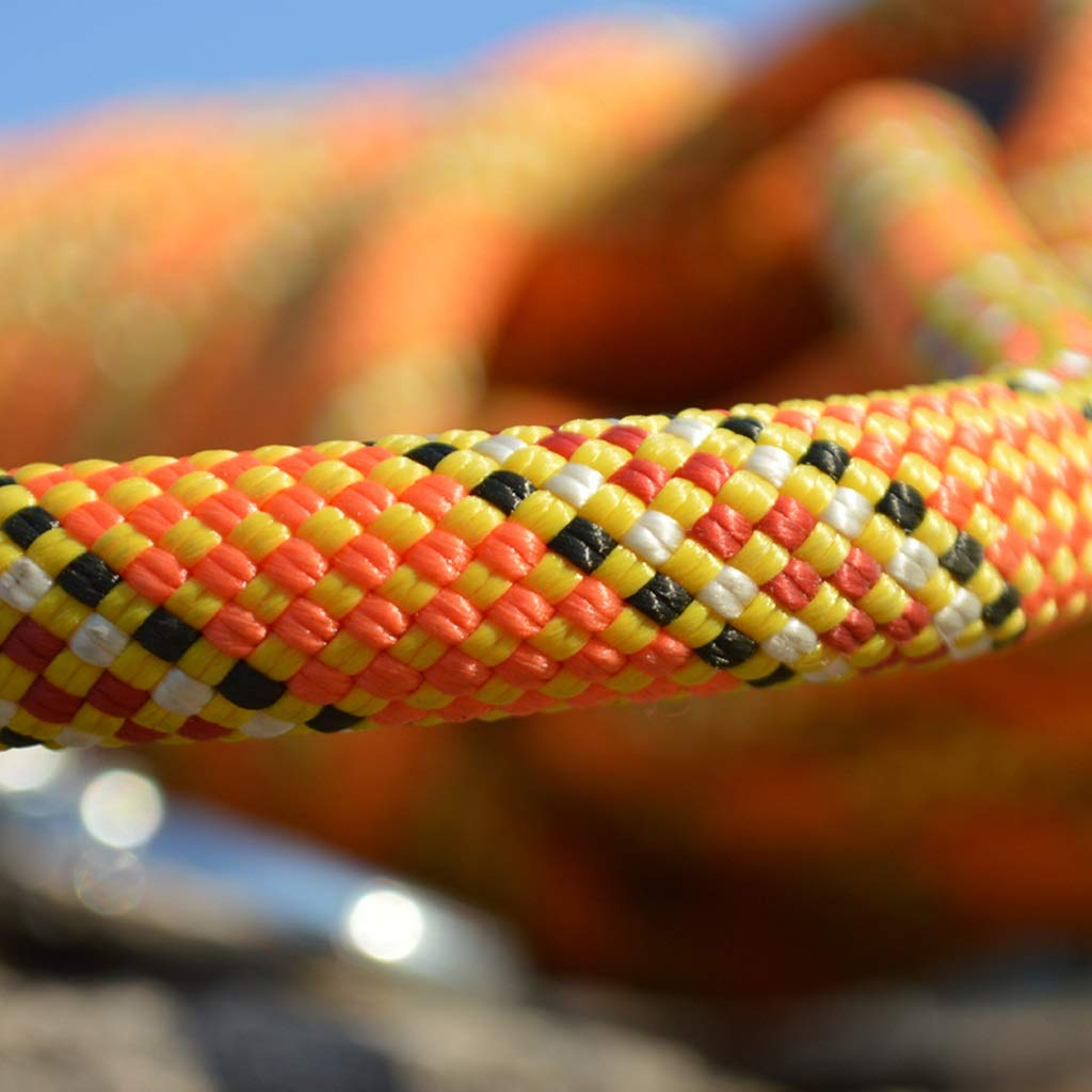 Size : 1m 11mm Diameter Outdoor Power Bundle Safety Rope Orange Mountaineering Rock Climbing Rappelling Cord Climbing Rope