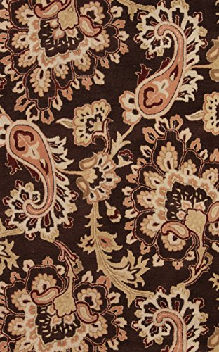 New Oushak All-Over Floral Hand-Tufted 8x11 Brown Wool Oriental Area Rug (8' 0
