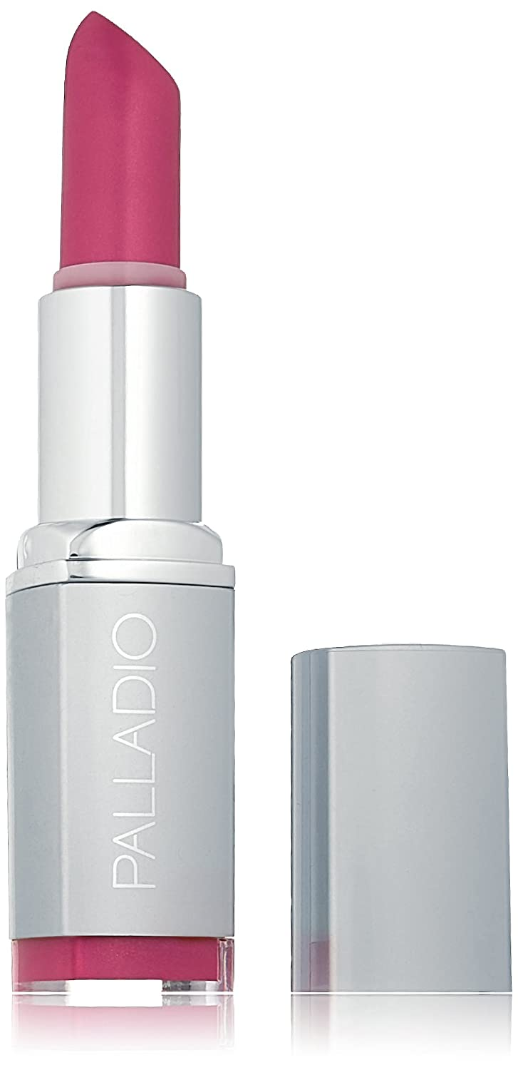 Palladio Herbal Lipstick, Silver Rose, Rich Pigmented and Creamy Lipstick, Infused with Aloe Vera, Chamomile & Ginseng, Prevents Lips from Drying, Combats Fine Lines, Long Lasting Lipstick