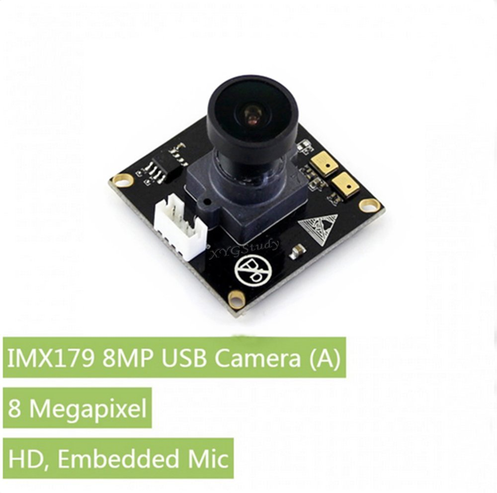 8 megapixel IMX179 sensor USB Camera (A) HD Embedded Mic Ultra High Definition 3288x2512 Driver-Free Supported OS: Windows Linux @XYGStudy
