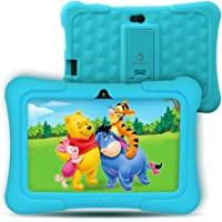 "Dragon Touch Kids Tablet, Y88X Pro Android 9.0 OS 7"" IPS Display 2GB Ram 16GB ROM Kidoz & Google Play Pre-Installed with Kid-Proof Casel - Blue"