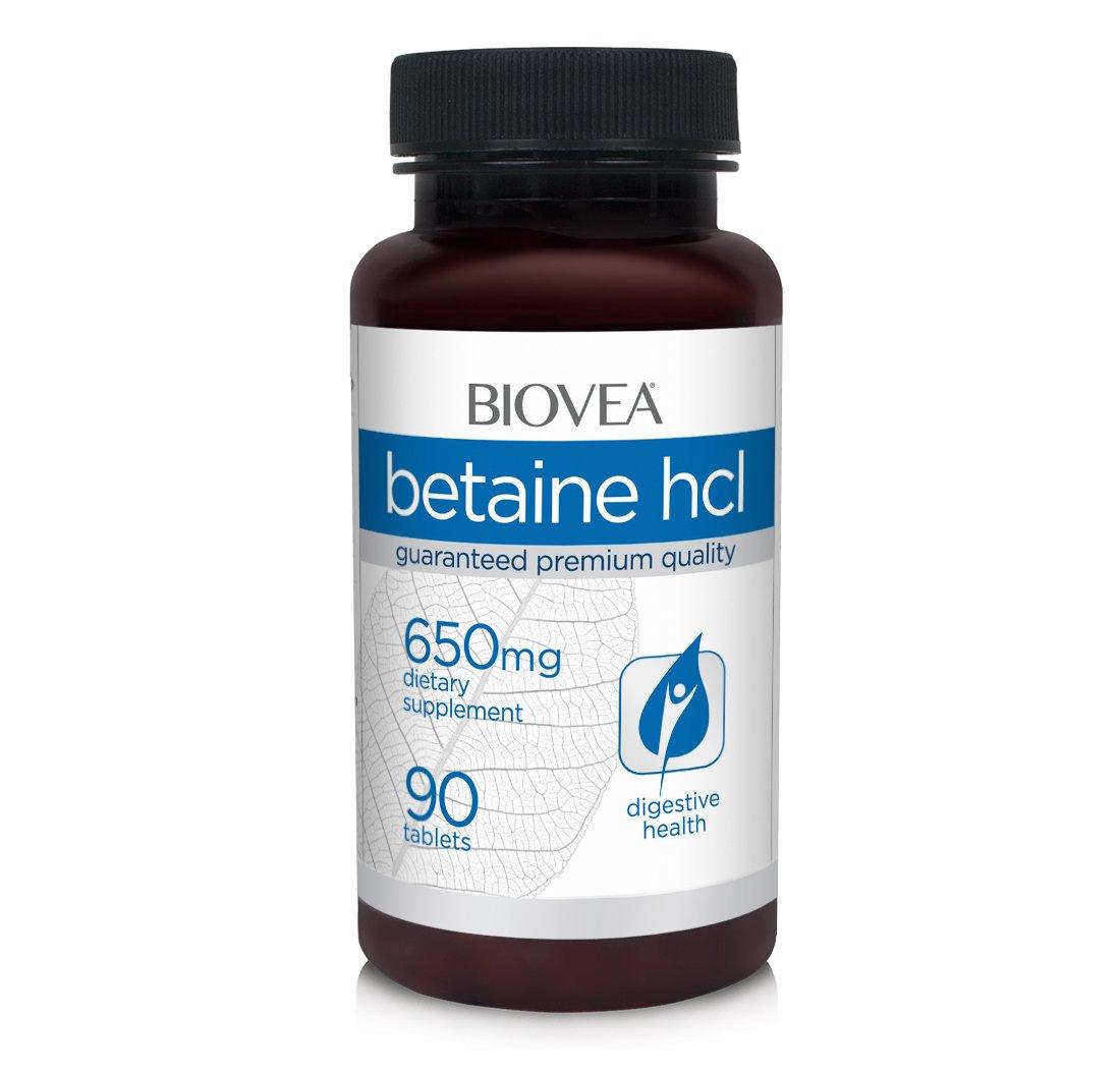 betaína HCl 650 mg 90 tabletas: Amazon.es: Salud y cuidado ...