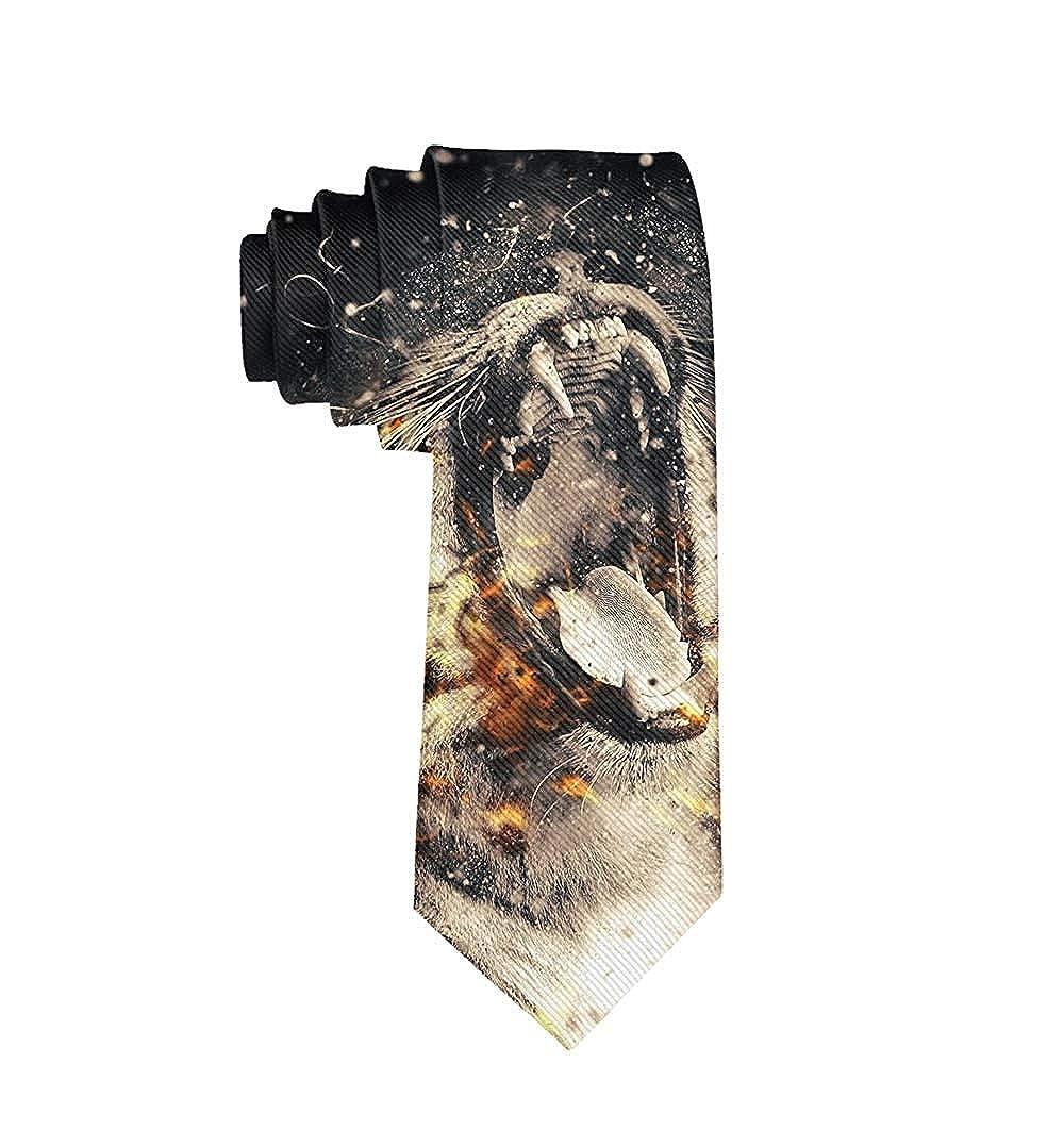 Corbata de tigre para hombre - Blanco - talla única: Amazon.es ...