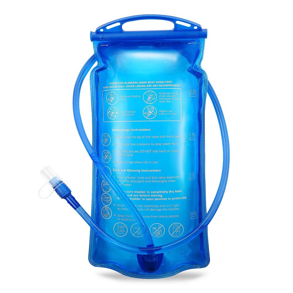 Portable 2 liter water hydration bag authorized FDA, tadellos de burb en Espacios Exteriores SKL WB001
