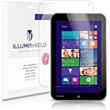"iLLumiShield - Toshiba Encore 8"" Screen Protector Japanese Ultra Clear HD Film with Anti-Bubble and Anti-Fingerprint – High Quality (Invisible) LCD Shield – Lifetime Replacement Warranty – [2-Pack] OEM / Retail Packaging"