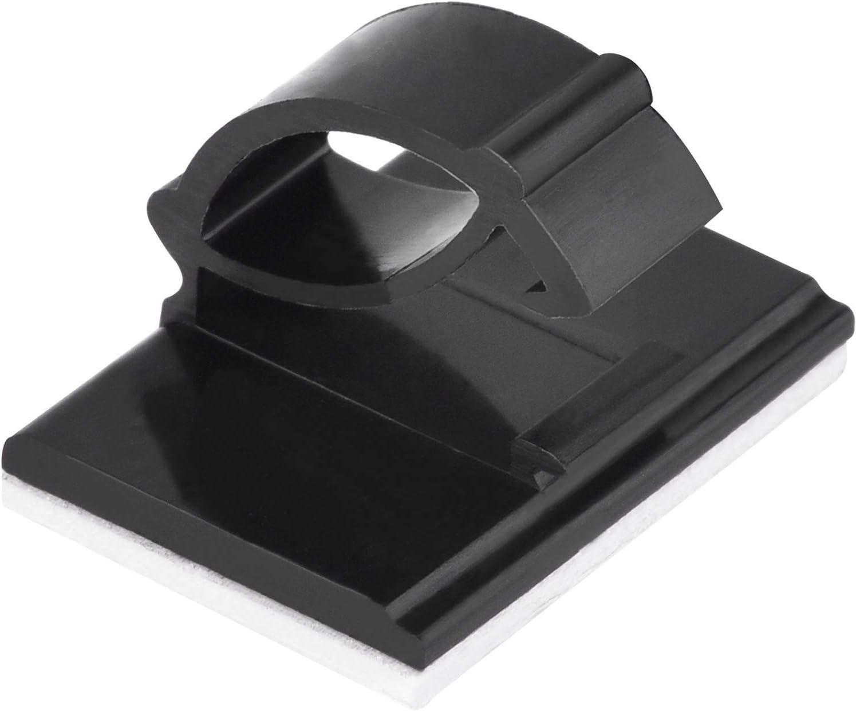 50 noir Attache-c/âbles R/églables R/éutilisables Organiseur et Gestion de C/âbles de Recharge pour TV PC Voiture et Bureau LICQIC Lot de 10 Clips C/âble Durable 50 Clips C/âbles Adh/ésifs
