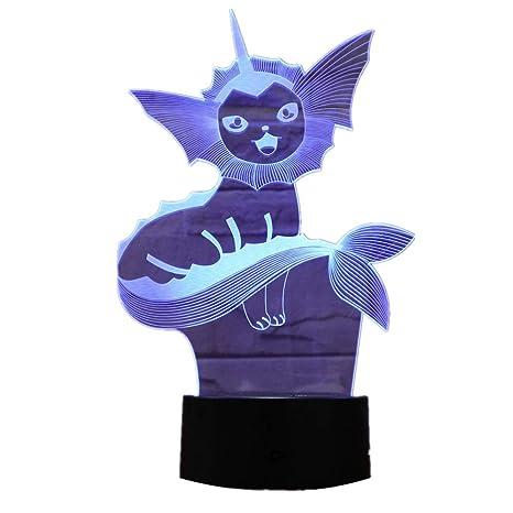 KangYD Luz 3D /3D Led Night Light Pokemon Lamp Night Holiday Gift ...