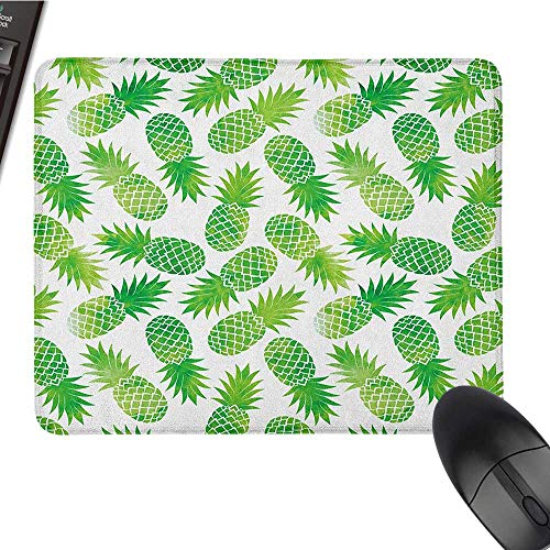 Large Gaming Mouse pad Fruits,Vintage Artistic Watermelon Watercolor Effects Vibrant Tropical Surreal Print, Fern Green White Funny Mouse pad 15.7 x23.6 INCH ()
