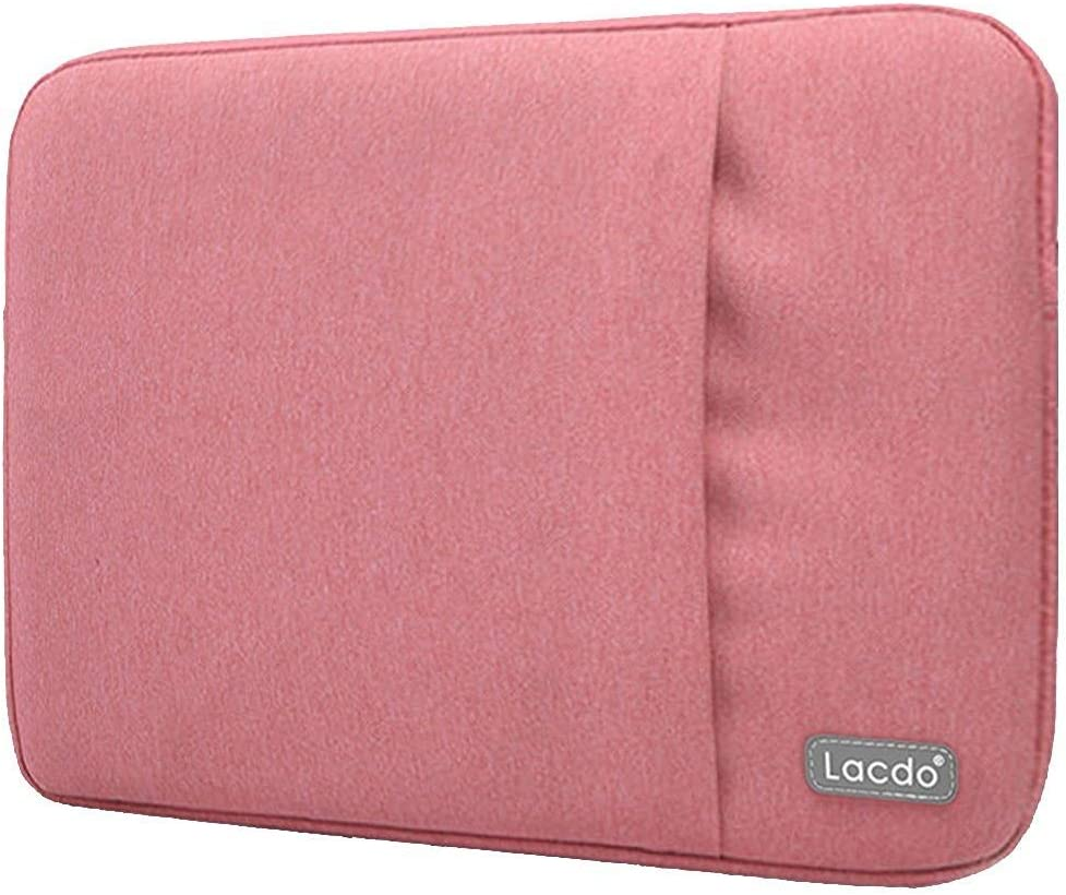 Lacdo 11 - 11.6 Inch Water Resistant Laptop Sleeve Case for 12 Inch New MacBook with Retina Display | MacBook Air 11.6 | Surface Pro 5, 4, 3 | Acer Dell HP Samsung Asus Chromebook Tablet Bag, Pink